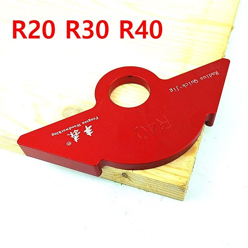 R20/30/40 Woodworking R Gauge Angle Arc Trimming Machine R Angle Arc Positioning Template Corner Jig for Router Table