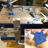 Woodworking Table Fixture Fixing Plate for Clamp Installation
