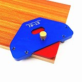 Wood Panel Radius Quick-Jig Woodworking Bevel R Round Arc Positioning Template Round Corner for Trimming Machine Engraving