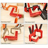 2Pcs Woodworking L Shape Ruler 3/4/6Inch 90 Degree Plastic L-Shape Corner Clamping Square Right Angle Clamps Tools
