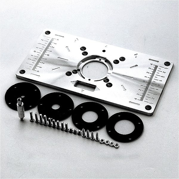Aluminium Router Table Insert Plate Table For Woodworking Benches Router Plate Wood Tools Milling Trimming Machine With Rings