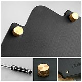 3pcs R Round Corner Jig Template Bakelite Plate + 1pc Router Bit with Bearing for Woodworking Tools Engraving Machine
