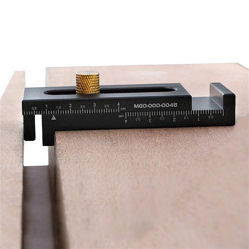 5-40mm Woodworking Micrometer Gap Gauge Aluminum Alloy Depth Measuring Sawtooth Ruler Marking Gauge Measuring Tools