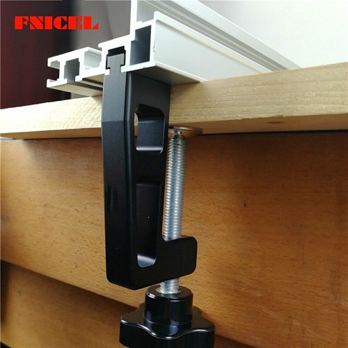 2Pcs/set Woodworking Special Fixing Clips G Clamp for wood working Fence and 75 Type T Track  Slot Thickest Clips 65MM