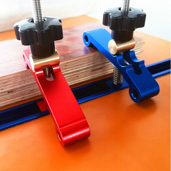 Aluminum Alloy T-track Clamping Blocks Woodworking Jig Universal T Slot Clamping Blocks Platen Woodworking Tool for Router Table