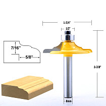 1PC 8mm Shank Classical Euro Style Door Front Edging Router Bit Trimming Wood Milling Cutter for Woodwork Cutter Power Tools