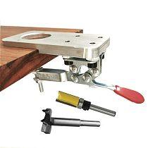 35mm/40mm Door Cabinet Hinge Boring Jig Drill Guide Set Aluminum Alloy Hole Opener Template Woodworking Hole Opener Template