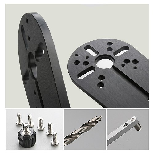 Woodworking Milling Circle Cutting Jig for Bosch Makita Electric Hand Trimmer Wood Router Circle Milling Groove DIY Tools