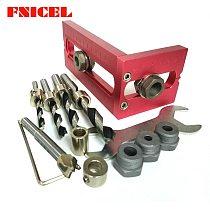 Woodworking Pocket Hole Screw Jig Drill Bits Set Cross Oblique Flat Head Screw Puncher Bed Cabinet Screw Puncher Locator