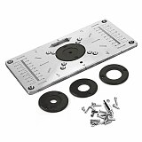 Aluminium Router Table Insert Plate Woodworking Benches Table Saws for Multifunctional Wood Plate Machine Engraving 4 Rings Tool
