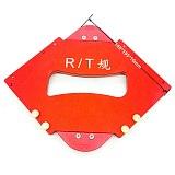 Router Table Round Corner Template R5-R40 T10-T40 Aluminium Alloy Bevel Gauge Woodworking Fillet Gauge Arc Radius Quick-Jig