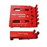 Aluminum Alloy Depth Measuring Ruler w/ Scale Woodworking Line Ruler Sawtooth Ruler Marking Gap Gauge Measuring Tools
