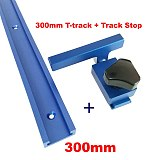 NEW Aluminium T-Slot T Track w/ Miter Track Stop 300-800mm Router Table Jig Fixture Slot T-Track Woodworking Tools for Wood