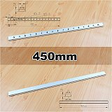 100mm 200mm 300mm 450mm Aluminium M6 M8 Slide Slab T Track Slot for Miter Track Fixture Slot Woodworking Tool Router Table Tools