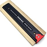Aluminum Alloy Scribing Ruler W/ Hook Stop Woodworking T-shaped Crossed Line Marking Gauge Precison Measuring Tools