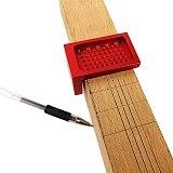 Woodworking Tracing Marking Ruler T-50 Measuring Tool T-type Scribe Mark Measurement Tool Aluminum Alloy Cross-calibration Ruler