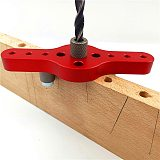 Vertical Pocket Hole Jig 6/8/10mm Woodworking Dowelling Self Centering Drill Guide Kit Wood Drilling Locator  Hole Puncher