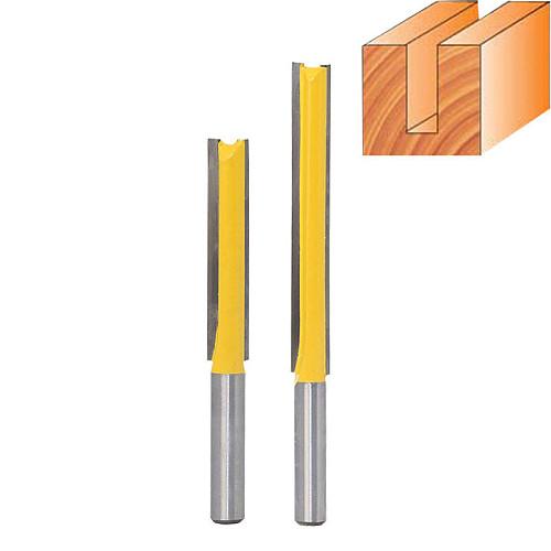 8mm Shank Straight/Dado Router Bit 3/8  Dia. X 2  Length - 8mm Shank Woodworking cutter Wood Cutting Tool