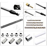 3 In 1 Woodworking Dowel Jig Set Drill Guide Dowelling Jig Master Kit Locator for 6/8/10mm Dowels Circular Tenon Hole Locator