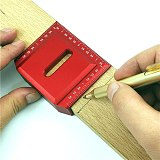 Woodworking Line Scriber 90 Degree Square Ruler Precision Scribing Gauge Measuring Tool