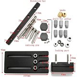Dowelling Jig Master Kit Drilling Guide Dowel Hole Locator Kit For 6/8/10mm Woodworking Dowel Drilling Tool