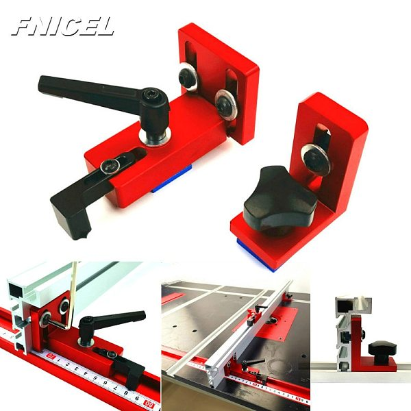 Woodworking T Slot Sliding Brackets Miter Track Stop Sliding Miter Gauge Fence Connector Rail Retainer Chute Locator for T-track