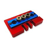 Woodworking Splicing Board Hole Opener Locator W/ Drills Tenon Hole Punchers Positioning Dowelling Jig Woodworking DIY Tools