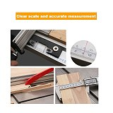 Bidirectional Self Adhesive Miter Saw Track Tape Stainless Steel Measure Backing Metric Steel Ruler Tape Measurements