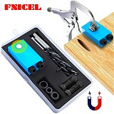 Woodworking 15 Degree Pocket Hole Jig Replaceable 6 8 10mm Drill Guide Magnetic Blue Dowel Jig Kit Wood Drill for Wood Jointing
