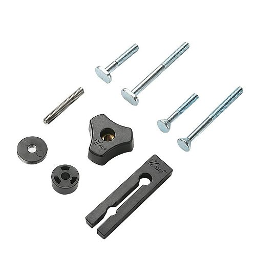 Woodworking T Block M6 Nut Handle Tighten Nuts Self-locking T Screw Slider T-Track Sliding Feather Board Retaining Ring Washers