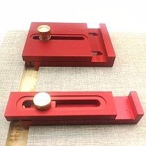 Aluminum Alloy Depth Measuring Ruler  w/ Scale Woodworking Line Ruler Sawtooth Ruler Marking Gap Gauge Measuring Tool