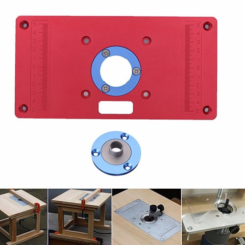 High Quality Universal Router Table Insert Plate For DIY Woodworking Wood Router Trimmer Models Engraving Machine