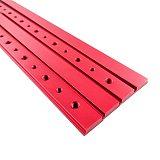 Aluminum M6/M8 T track Slot Slider Sliding Bar For 30/45 Type T-Track Jigs Screw Slot Fastener Woodworking Tool Red