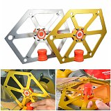 Woodworking Angle Ruler Aluminum Alloy Hexagon Inclinometer Ruler Table Saw Blade Tilt Angle Measuring Gauge with Magnetic