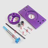 NEW Aluminium Alloy 35MM Cup Style Concealed Hinge Jig Drill Guide Set Door Boring Hole Template w/ Bit