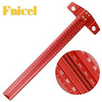 Woodworking Scribe 60-600mm T-type Ruler Scribing ruler Aluminum alloy Line Drawing Marking Gauge DIY Measuring Tools