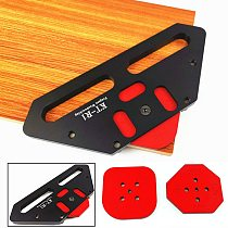Woodworking Arc Positioning Template 4 In 1 Wood Panel Radius Quick-Jig Router Table Bits Jig Corner Templates Kit R15-R30