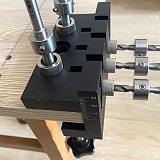 3 In 1 Dowelling Jig Woodworking Joinery Punch Locator Self Centering Metric Dowel wooden pin Drilling Tools Pocket Hole Jig