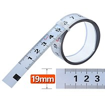 1-5M Miter Track Tape Measure W19mm Steel Self Adhesive Scale Ruler for T-track Router Table Woodworking Workbench Measuring