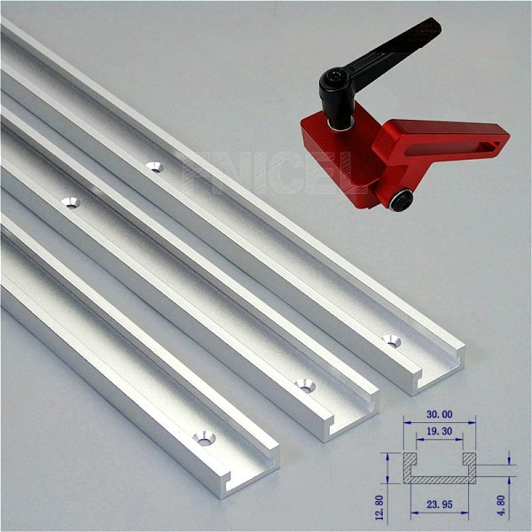 Aluminium Alloy T-track Slot Miter Track Jig Fixture T-Slot And Track Stop for Carpenter Manual Router Table Woodworking Tools