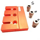 Drill Guide Dowel Jig Set Woodworking Joinery Master W/ Drill Sleeve for Carpentry Drilling Pocket Hole Tool Kit