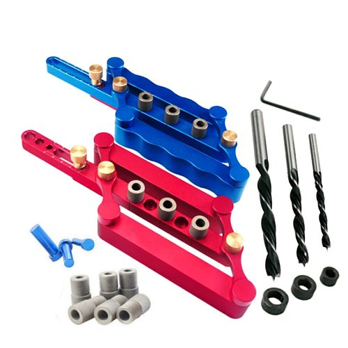 Self Centering Dowelling Jig Metric Dowel 6/8/10mm Drilling Tools for Wood Working Woodworking Joinery Punch Locator Tool