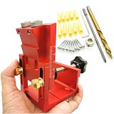 9.0mm Drill Guide Dowel Jig Set Woodworking Joinery Master W/ Drill Sleeve for Carpentry Drilling Pocket Hole Tool