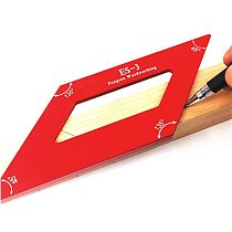 Multi Woodworking Scribe Ruler Aluminum Alloy Angle Ruler WoodWork 45/135 Degree Right Angle Line Gauge Carpenter Measuring Tool