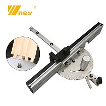 450mm Miter Gauge with Tenon and Track Stop Woodworking Table Saw/Router Miter Gauge Sawing Assembly Ruler DIY Tools