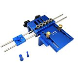 High Precision 3 In 1 Drilling Locator Drilling Guide Kit Woodworking Joinery Dowel Jigs Dowelling Jig Kit Woodworking DIY Tools