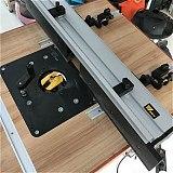 Heavy Precision Router Lift Duty Hard-Anodized Aluminum Table Mount Lift Flip Chip for Engraving Machine & Bakelite