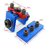 8mm/15mm Furniture Fast Connecting Drill Guide Dowelling Jig Woodworking 3 In 1 Hole Drilling Locator Tool Kit