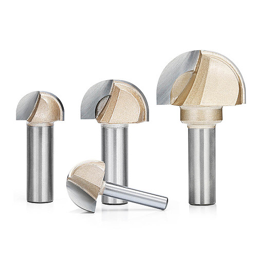 Woodworking Round Cove Bit Tungsten Carbide Professional Grade Router Bits for Wood 1/2 1/4 Inch Shank Milling Cutter