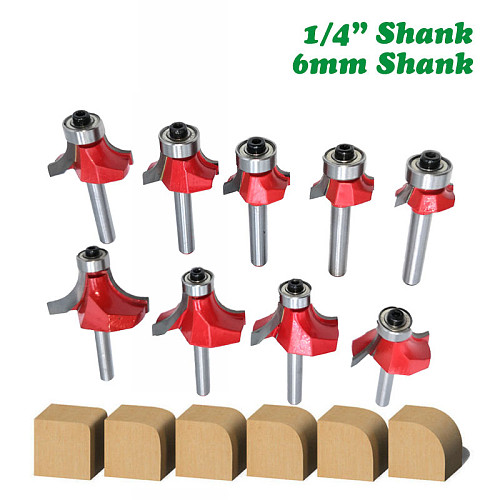 1pc 6mm 1/4 Shank Small Corner Round Router Bit for Wood Edging Woodworking Mill Classical Cutter Bit for Wood MC01035